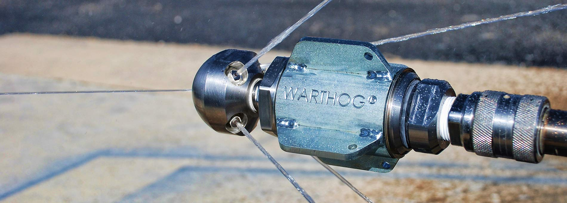 Warthog WG-1 sewer pipe cleaning tools