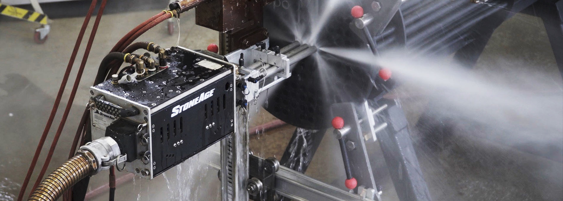 ABX-3L triple lance tube cleaning