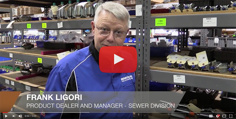 Frank Ligori answers customer questions about sewer jetting
